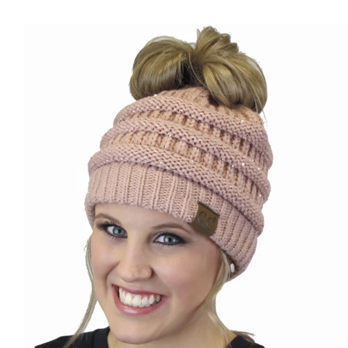 Women's Girlie Girl Sequin Beanie Indipink
