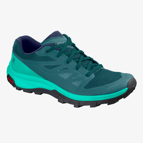 Women's Salomon Outline Sneaker -Hydro, Atlantis, Medieval Blue