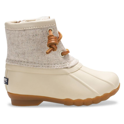 Little Kids' Sperry Off White Saltwater Wool Duck Boot