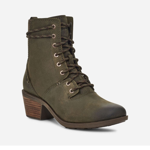 Women's Teva Dark Olive Anaya Lace Up Waterproof Boot