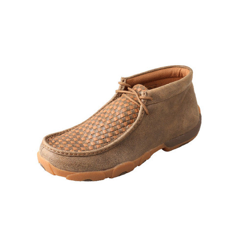 Men's Twisted X Chukka Driving Moccasin in Bomber/Tan