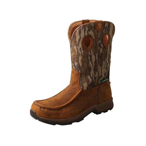 "Men's Twisted X Mossy Oak 11"" Pull On Hiker Boot"