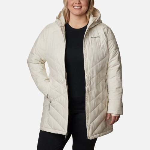 Women's Columbia Heavenly™ Long Hooded Jacket 191Chalk Front