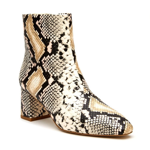 Women's Matisse Cocoa Ankle Boot Natural Snake Front