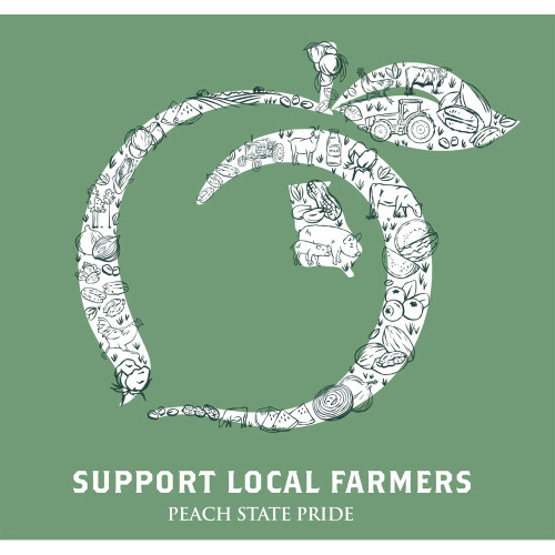 Men's Peach State Pride Support Local Farmers T-Shirt