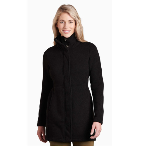 Women's Kuhl Highland Long Fleece Black Front