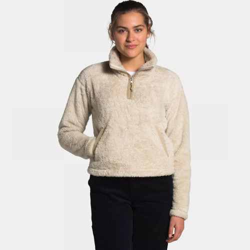 Women's The North Face Furry Fleece Pullover Bleached Sand