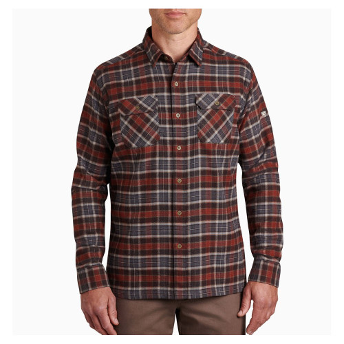 Men's Kuhl Dillingr Button Up Flannel -Redwood