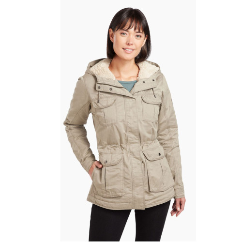 Women's Kuhl Fleece Lined Luna Jacket -Khaki