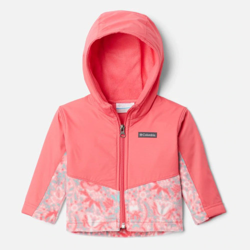Infant Girl's Columbia Steens Mountain Overlay Hoodie Jacket Bright Geranium