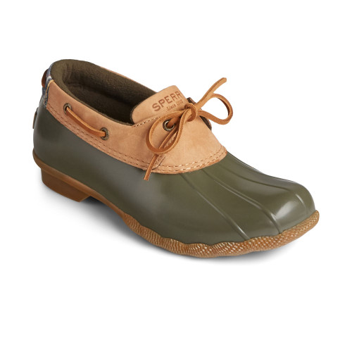 Women's Sperry Saltwater 1-Eye Leather Duck Boot -Olive Main