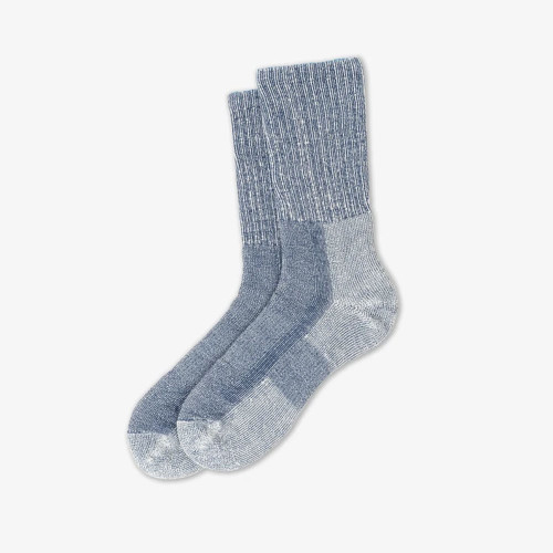Men's Thorlos Light Cushion Coolmax Hiking Crew Sock -Large Denim
