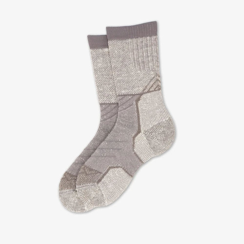 Unisex Thorlos Outdoor Explorer Crew Sock - Large Grey Sky Flat
