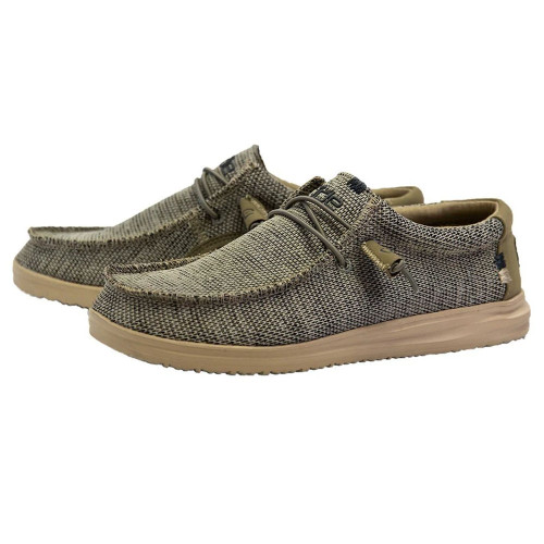 Men's Hey Dude Wally Free Slip-On Shoe Beige Main