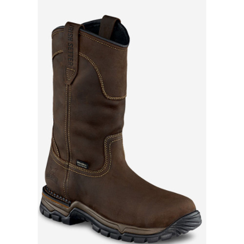"Men's Irish Setter Two Harbors 11"" Pull-On Boot Brown  Front Main"