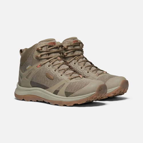 Women's Keen Terradora II Waterproof Boot Timberwolf/Coral Main