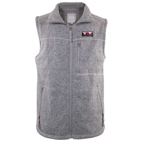 Women's Simply Southern Sweater Knit Vest Gray