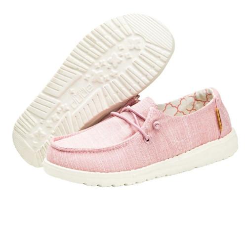 Girls' Hey Dude Wendy Sneakers in Pink Bottom