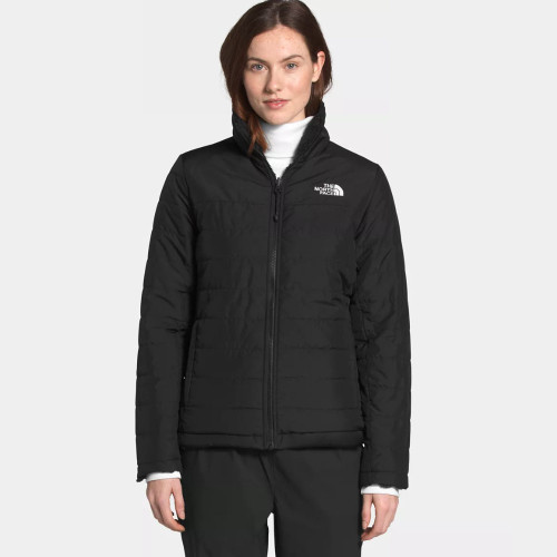 Women's The North Face Mossbud Insulated Reversible Jacket Black Front