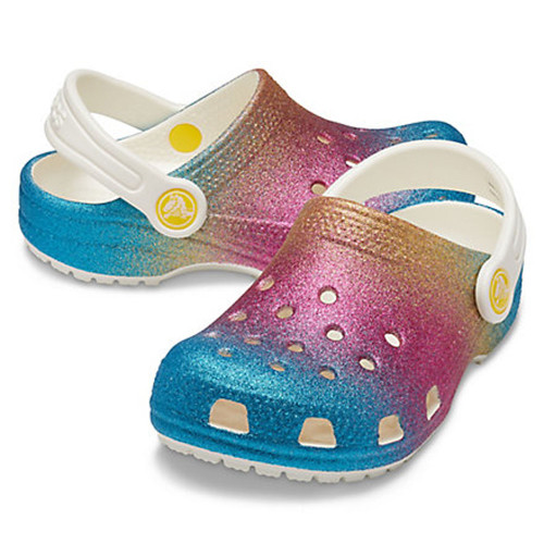 Girls' Crocs™Classic Ombre Glitter Oyster