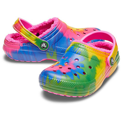 Women's Crocs™Classic Tie Dye Lined Clog Electric Pink