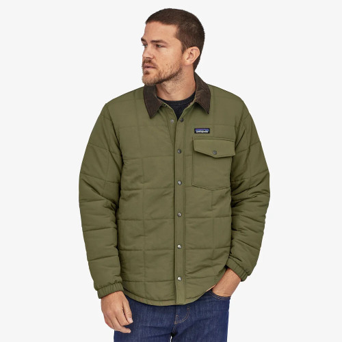 Men's Patagonia Isthmus Shirt Jacket Industrial Green Front