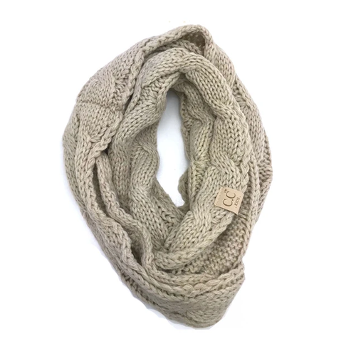 Girlie Girl Kids C.C. Infinity Scarf Taupe