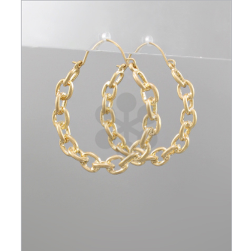 Golden Stella Linked Circle Hoops Gold