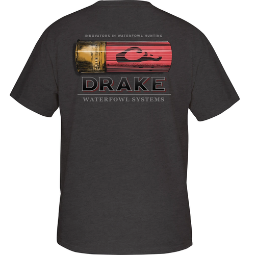 Men's Drake Shotshell Short Sleeve Tee Charcoal