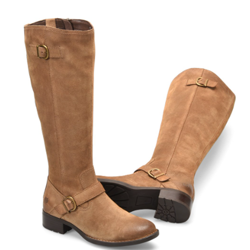 Women's Born Chesire Riding Boot in Tan Suede