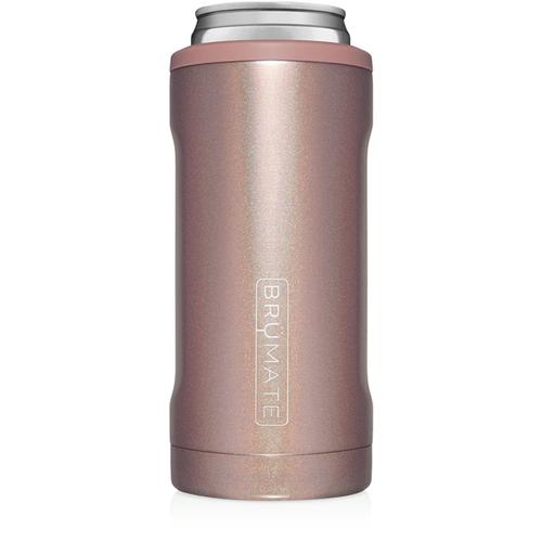 Brumate Hopsulator 12oz Slim Can-Cooler  Glitter Rose Gold