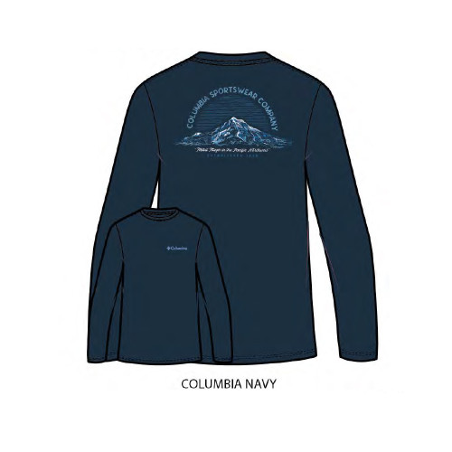 Men's Columbia Long Sleeve Mamba Tee Columbia Navy