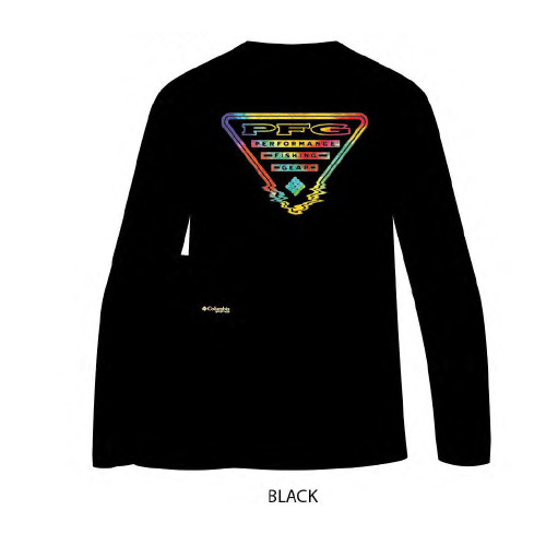 "Men's Columbia Long Sleeve ""Coastal"" Tee Black"