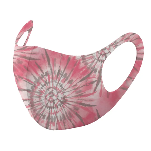 Kids' Mask4Aide™ iMask Face Mask Tie Dye Pink & White