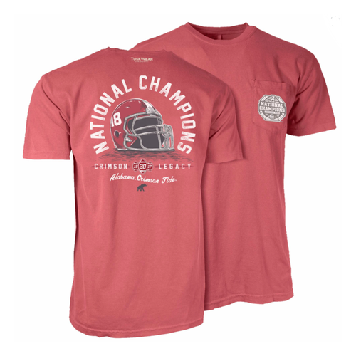 Tuskwear Alabama National Champions Helmet T-Shirt Crimson