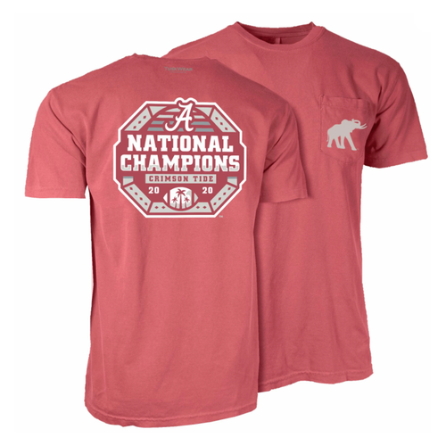 Tuskwear Alabama National Champions Octagon T-Shirt Crimson