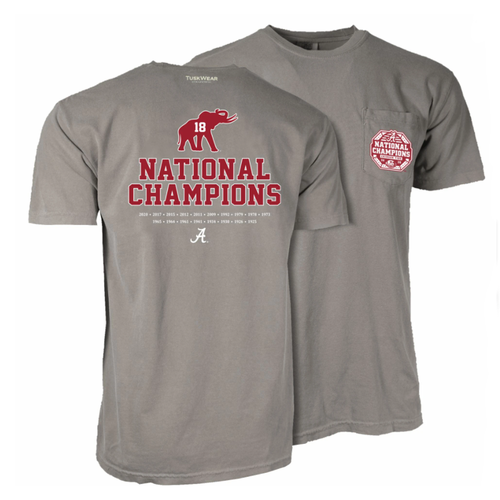 Tuskwear Alabama National Champions Elephant T-Shirt -Grey