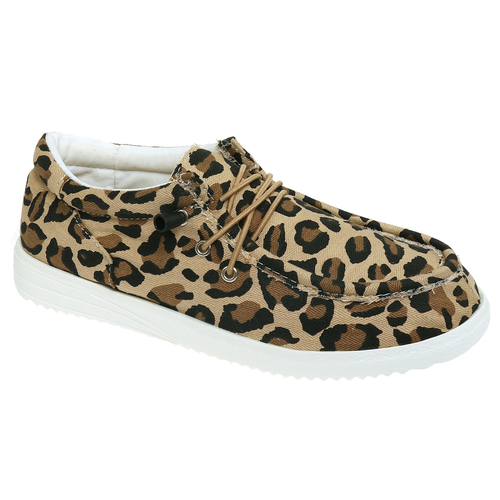 Pierre Dumas Walk-1 Slip On Sneaker 552Leopard Side