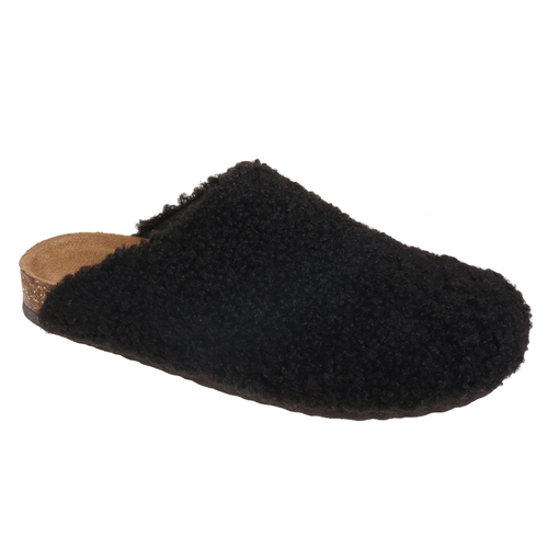 Pierre Dumas Outwoods Bork-79 Fuzzy Clog in Black Side