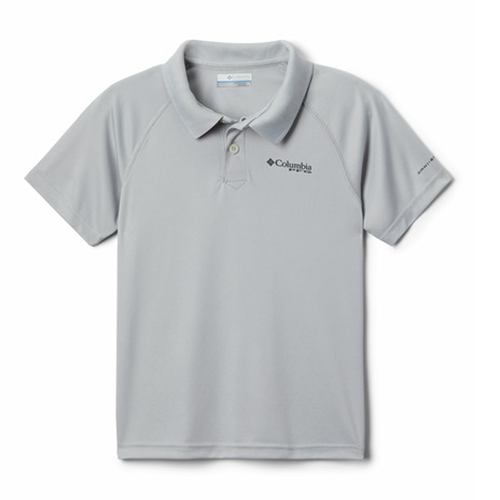 Boys' Columbia Terminal Tackle Polo - City Grey Front