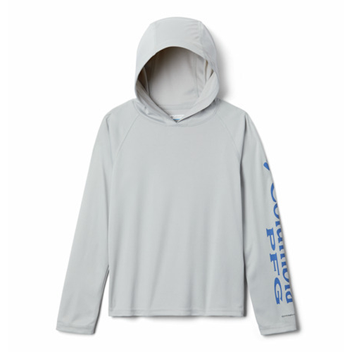 Kids' Columbia PFG Terminal Tackle Hoodie -City Grey Front