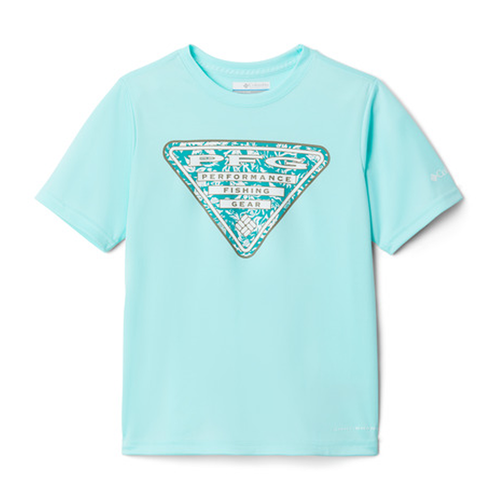 Boys' Columbia PFG Printed Logo Graphic T-Shirt -Gulf Stream