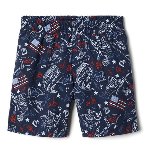 Boys' Columbia Super Backcast Short-Navy Front