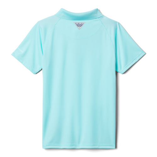 Boy's Columbia Short Sleeve Terminal Tackle Polo -Gulf Stream Front