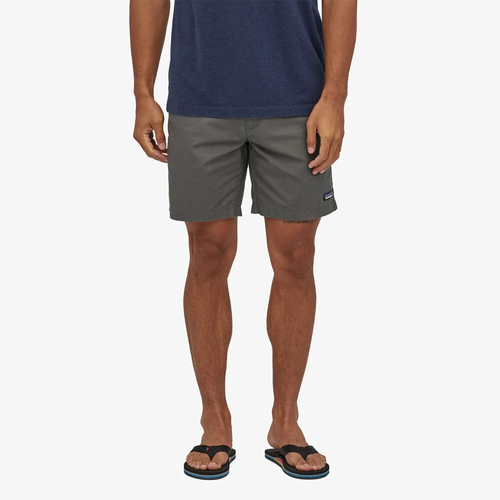 """Men's Patagonia Lightweight All-Wear 6"""" Hemp Shorts FGE Forge Grey Front"""
