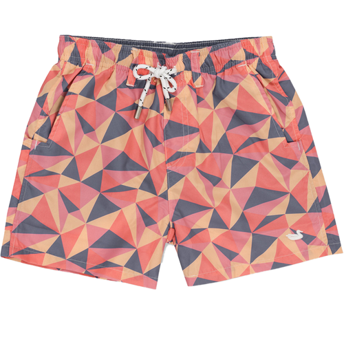 Boys' Southern Marsh Dockside Trunk-Facets MPPC-Mountain Purple & Peach Front