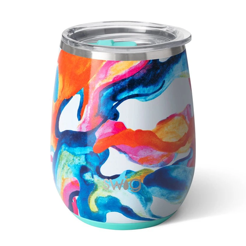Swig Life 14 oz Stemless Wine Cup -Color Swirl