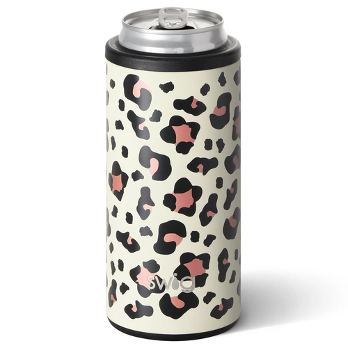 Swig Life 12 oz Skinny Can Cooler -Luxy Leopard
