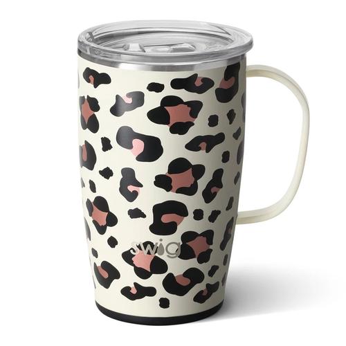 Swig Life 18 oz Travel Mug -Luxy Leopard