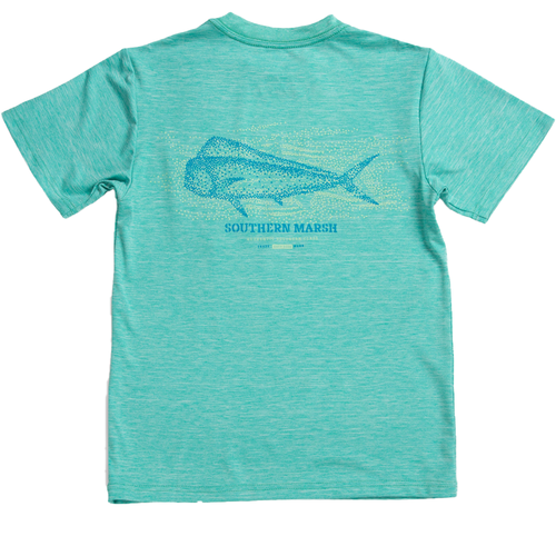 Youth Southern Marsh FieldTec™ Performance Tee-Mahi MNT-Mint Back